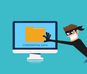 a data breach explaining how a robber gains access to confidential data