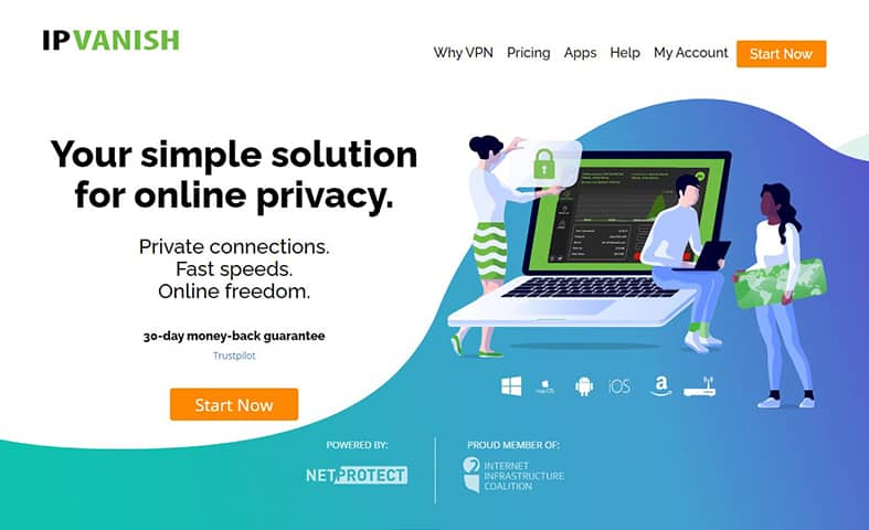IPVanish VPN homepage