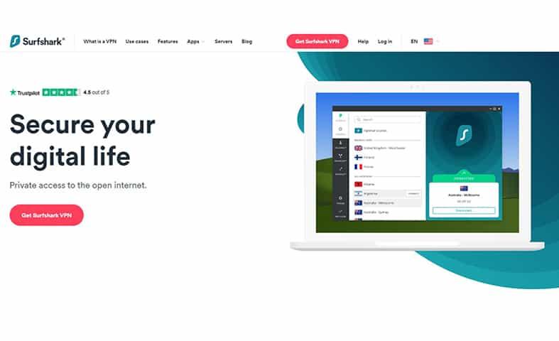 SurfsharkVPN homepage image