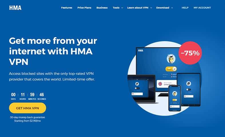 hidemyass homepage image
